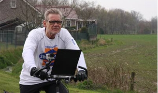 Paul Bossché lost eindschot bij Run-Bike-Walk 2017 Etten-Leur
